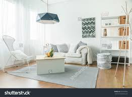 Trendy Living Room Trendy Furniture Small Cozy Living Room Stock Photo 326497892
