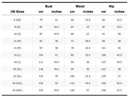 Urban Outfitters Size Chart 47 Right Urban Outfitters Size Guide