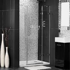 Grey Remodeling Bathroom Idea With Grey Mosaic Tile Wall On Shower ...