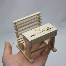 unfinished dollhouse furniture. Unfinished Dolls House Room Set Wood Desk Bench Chair Furniture 1:12 Dollhouse Miniatures One Inch Scale H2.7\