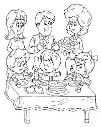 Birthday Party Coloring Pages Birthday Party Coloring Pages Birthday