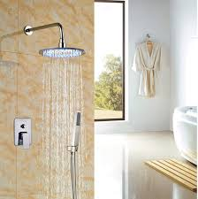 golden bathroom shower column faucet wall: luxury bathroom rainfall shower set faucet ampquot wall mounted units chrome polishedchina