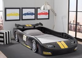 Delta Children Turbo Race Car Twin Bed - Black