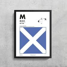 The phonetic spelling of the individual letters uses the international phonetic alphabet (ipa), which enables us to represent the sounds of a language discover the english alphabet and listen to the pronunciation of each letter. Signal Flag M Mike M Phonetic Alphabet Morse Code Etsy