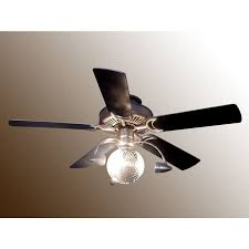 funkytown disco ball ceiling fan lke55 light satin steel black satin steel
