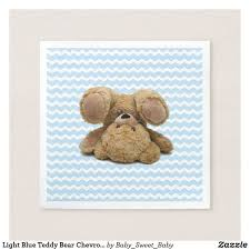 Light Blue Chevron Paper Napkins Light Blue Teddy Bear Chevron Napkins Zazzle Com Winter