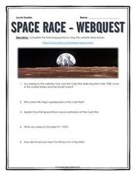cold war resource bundle projects webquests assignments etc  cold war space race webquest key