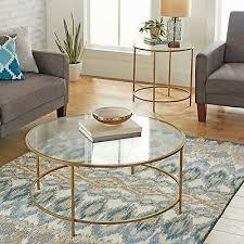 modern glass coffee table metal gold