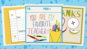 Printable Thank You Cards For Teachers Printable Teacher Thank You Cards For Teacher Appreciation