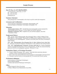 7 Example Of Resume For Medical Technologist Inta Cf