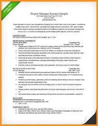 3 4 Project Management Resume Objective Wear2014 Com