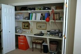 home office in closet. small closet office home great design simple and comfortable . in