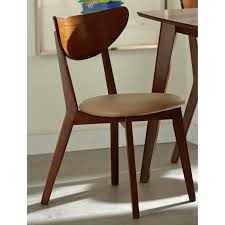 peony retro walnut finished dining chairs set of 2 ping
