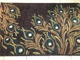 pier one area rugs details about pier one 1 imports peacock feather brown area rug 5 pier one area rugs