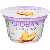 chobani simply 100 peach blended non fat greek yogurt