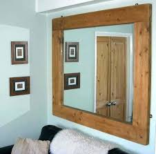 reclaimed wood mirror large wall rustic modern home decor housewares woodwork