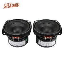 <b>2PCS 4 Inch</b> 4OHM 50W Subwoofer Speaker 105mm Bass Long ...