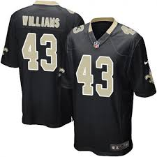 Football Game New 43 Marcus Jersey Saints Williams Home Black Sale Men's Orleans