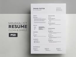Minimalist Resume Cv David Graphic Pick
