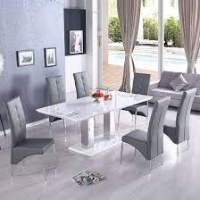 monton modern extendable dining table in white high gloss with 6 kitchen table for 6