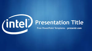 Powerpoint Backgrounds Blue Free Intel Powerpoint Template Prezentr Powerpoint Templates