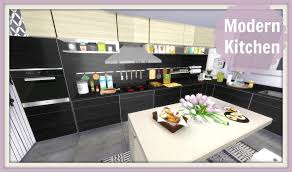 Sims Kitchen Sims 4 Modern Kitchen Youtube
