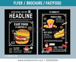 Flyer Design Food Fast Food Flyer Design Vector Template Stock Vector Royalty Free