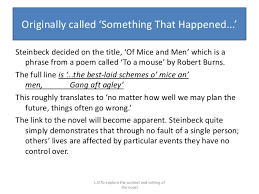 of mice and men literature exam of the novel 17