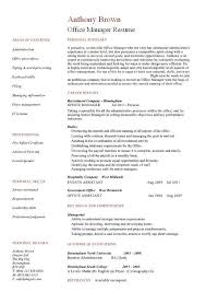Manager Resume Sample Stunning Office Manager CV Sample