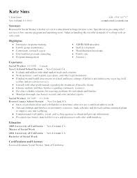 Social Worker Resume Social Work Resume Examples Case Worker Resume