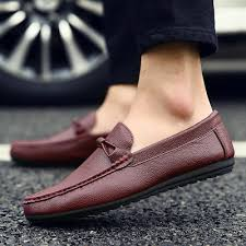 <b>Men's</b> Casual <b>Leather</b> Shoes Driving Loafers Peas Flats <b>Lazy</b> ...