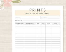 Photography Order Form Template - April.onthemarch.co