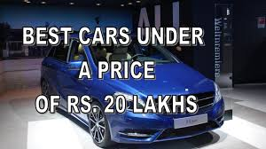 Top Five Cars Under A Price Of Rs Lakhs To Lakhs In India
