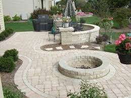 Charming Paver Patio Designs With Fire Pit Inspirations And