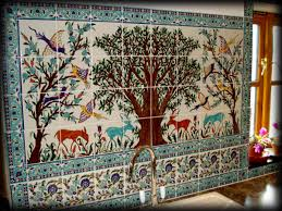 Mural Tiles For Kitchen Decor Kitchen Tile Backsplash Tile Murals Accent Tile Client Mural Tiles