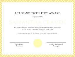 Principal Award Certificate Free Printable Certificates Of Achievement Outstanding