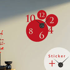 clock wall decals with bubbles and