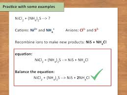 how to write a chemical equation