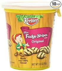 keebler cookies fudge stripes. Delighful Fudge Amazoncom Keebler Fudge Stripes Cookies Minis In A Cup Original 3  OzPack Of 10 To I