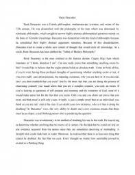 rene descartes cogito ergo sum essay similar essays
