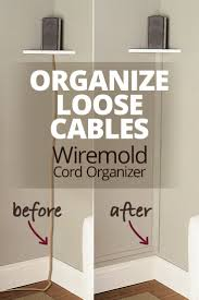 The Wiremold CornerMate Cord Organizer lets you hide and organize loose  cables by running them along