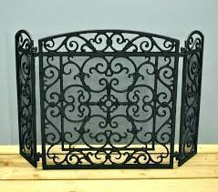 cast iron fireplace screen cast iron fireplace screen s s s decorative cast iron fireplace screens large cast iron scrollwork fire screen with doors cast