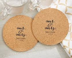 Wedding Coasters Personalized Mr And Mrs Round Cork Coasters Set Of 12 My