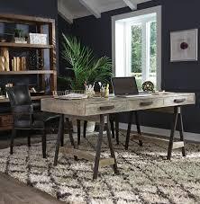 modern rustic office. Juliana Sawhorse Reclaimed Wood Desk. Rustic DeskReclaimed DeskModern OfficeRustic Modern Office O