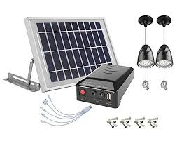 Solar Home Lighting System  5W Solar Panel With 5 Meter Cable Solar Powered Lighting Systems