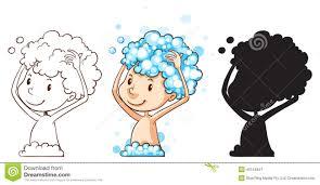washing body clipart. Brilliant Body Washing Hair And Body Clipart B