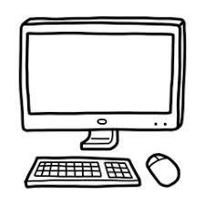 Image result for black and white cartoon picture of computers