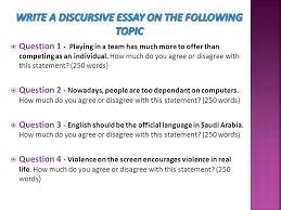 discursive essays a k a argument essays ppt video online  16 write a discursive essay