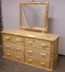 Bedroom Furniture Dresser Custom Made Knotty Pine Six Drawer Dresser By Fbt Sawmill Custom