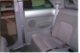 vw beetle rear speaker location